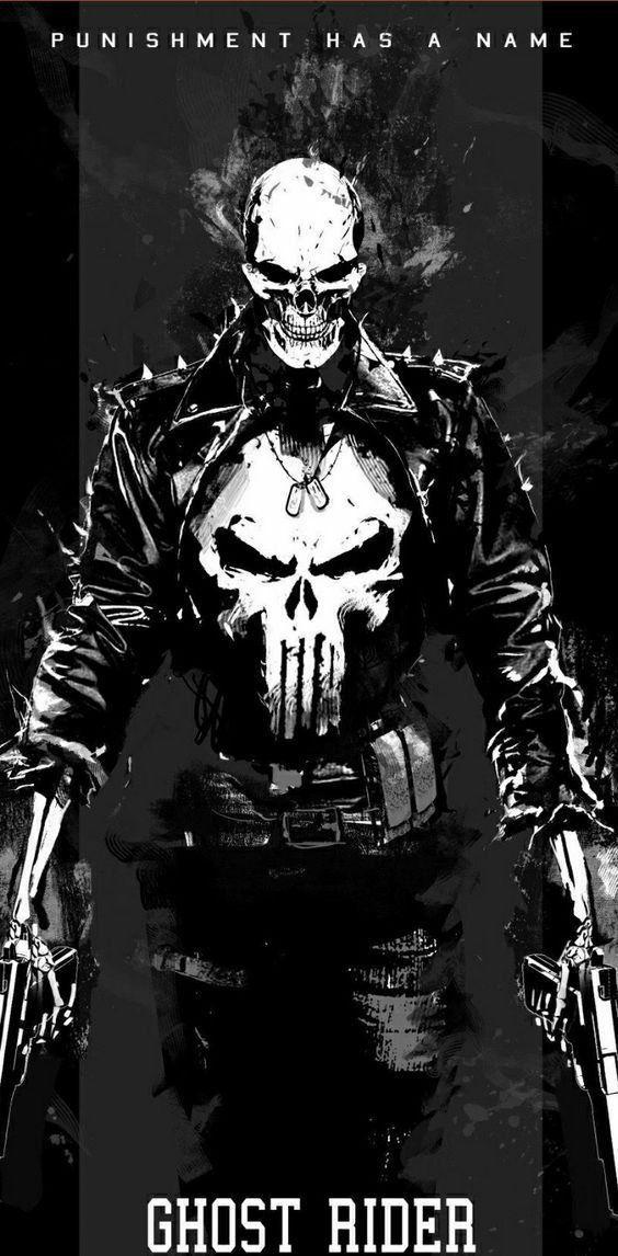 female frisk/Female Chara X Ghost Rider Spirit of Punishment