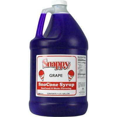 Snappy Popcorn Snow Cone Syrup Flavor: Grape