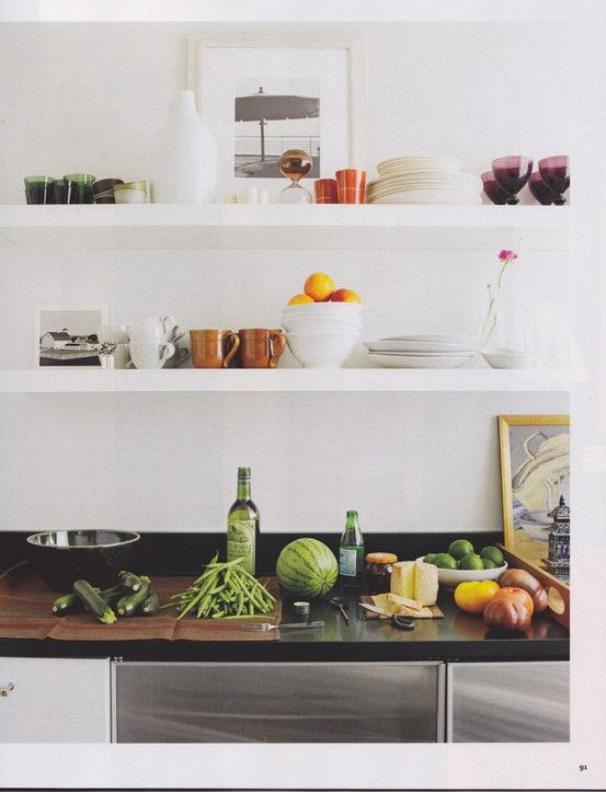 81 best kitchen shelf ideas images on pinterest | open shelves