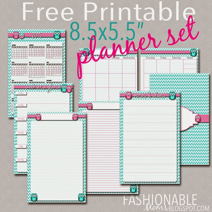 ***UPDATED FOR 2017***  Hi friends! Enjoy this half-page owl planner set ! If your printer has a two-sided printing feature, then print th...