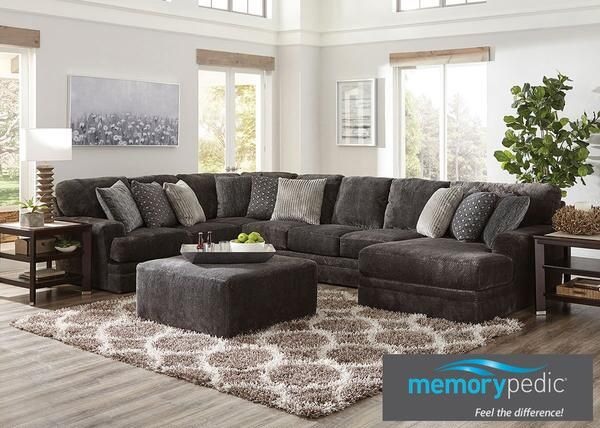 Prime Denali Smoke 3 Pc Sectional W Chaise Was 2 239 97 Now Theyellowbook Wood Chair Design Ideas Theyellowbookinfo