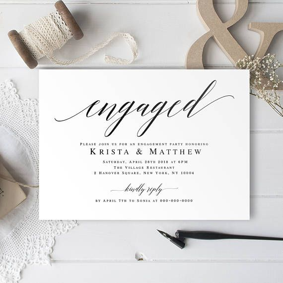 The 25 best Engagement invitation template ideas – Engagement Invitation Template