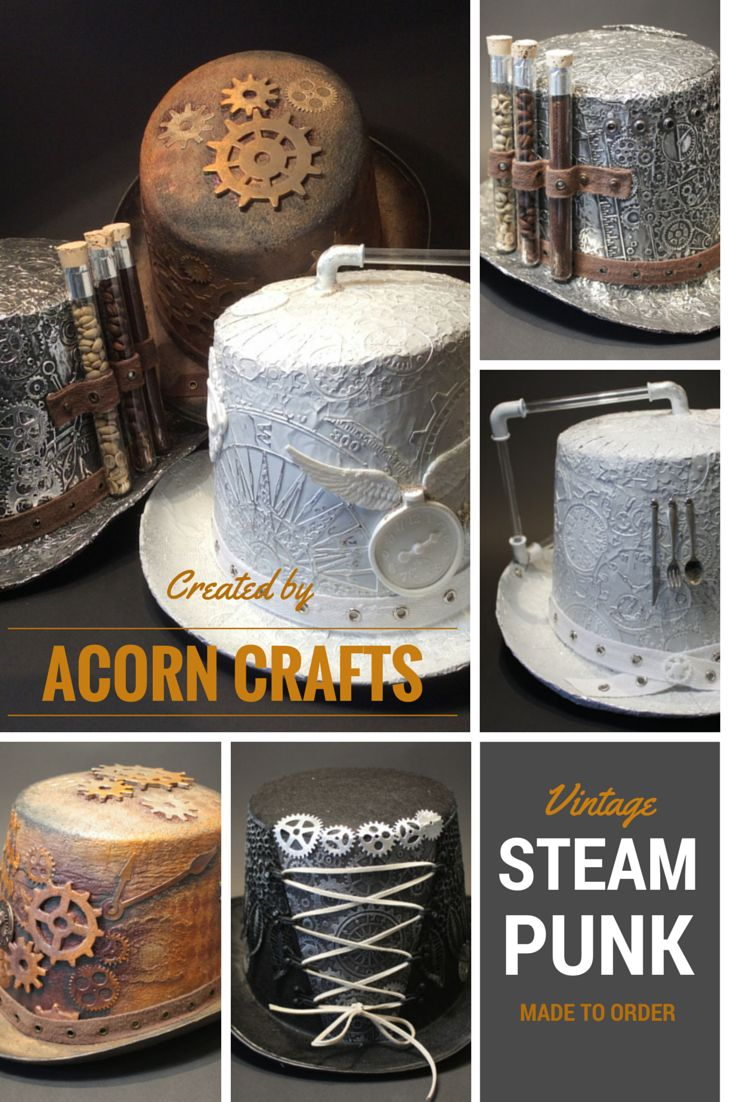 Bella's Scrappin' Space: Steampunk Hats - The final one! Using Tim Holtz embossing folders.