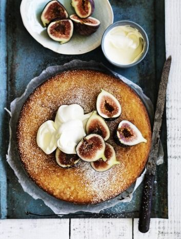 Fig and lemon yoghurt cake.