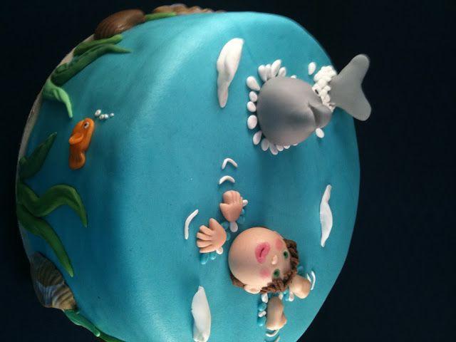 Taart bij Essy's Cosy-Cakes: Dolfijn jarig zijn!