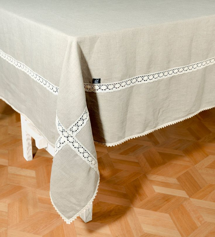 Wide Linen Tablecloth Width 6480 Cotton Lace Edge Etsy In 2020 Custom Table Cloth Linen Tablecloth Shabby Chic Dining Room