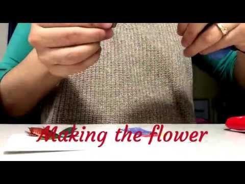 DIY How to make decorative flowers - Flores Decorativas - YouTube