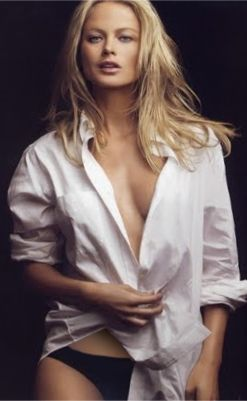 woman in mens shirt, photoshoot
