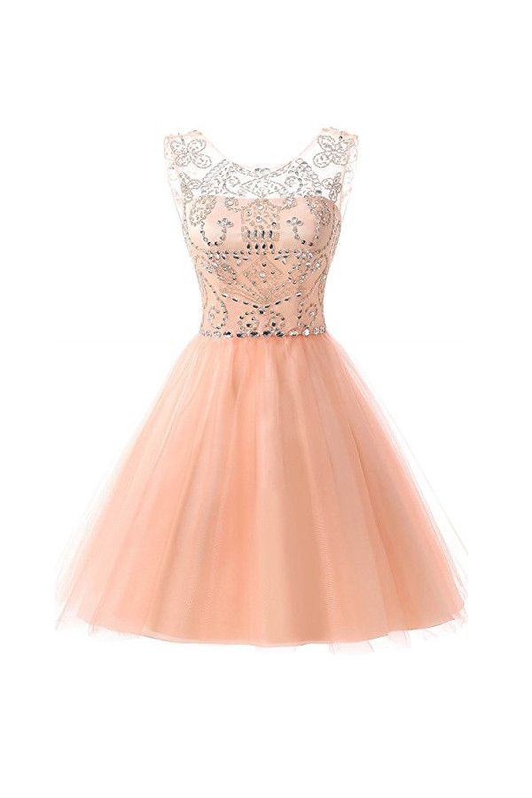 Short Tulle Beading Homecoming Dresses Prom Gowns Party Dresses PG076