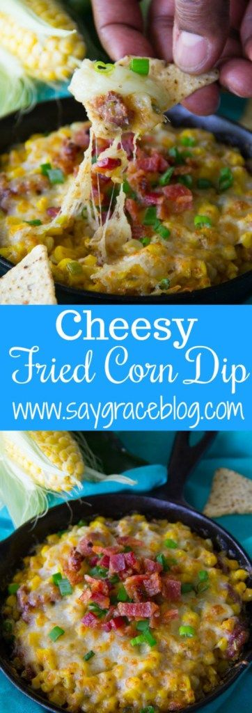 Traditional fried corn turned into a Cheesy Fried Corn Dip makes for a sweet and tasty appetizer!!
