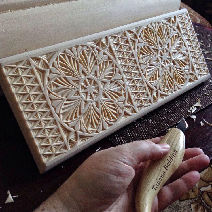Chip carving by Tatiana Baldina
