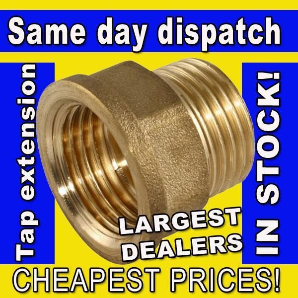 1 2 Quot Or 3 4 Quot Bsp Thread 15mm Or 22mm Brass Male To Female
