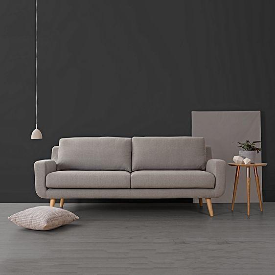 Tomas 2 Seater Sofa, Grey by Zanui