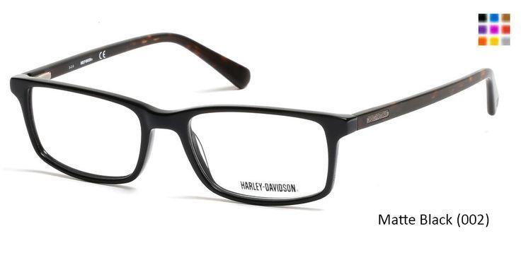 HARLEY-DAVIDSON HD0756 - Matte Black (002)  Eyeglasses,  for  adults, frames for man prescription eyewear with high quality lenses,Prescription lenses with anti scratch coating.
