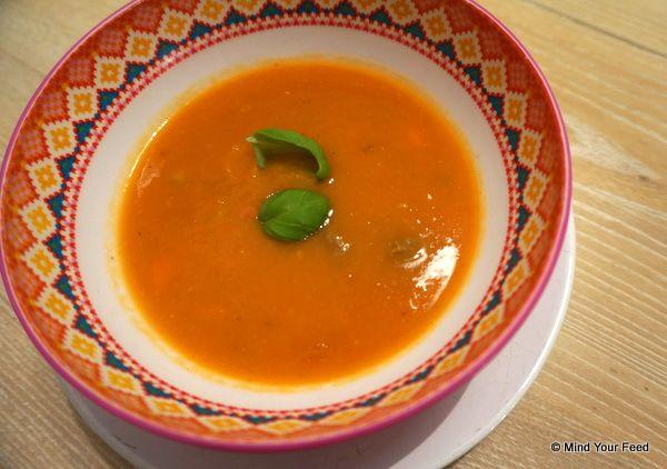Heerlijke verse tomatensoep