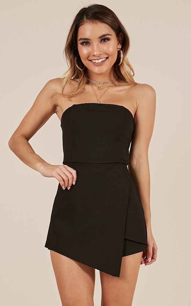 6f6dcabc1f Caught My Eyes Playsuit In Black in 2019