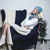 Аксессуары ручной работы. Ярмарка Мастеров - ручная работа Вязаный комплект шапка+шарф-снуд в  2 оборота.Шапка вязаная с помпоном. Handmade.