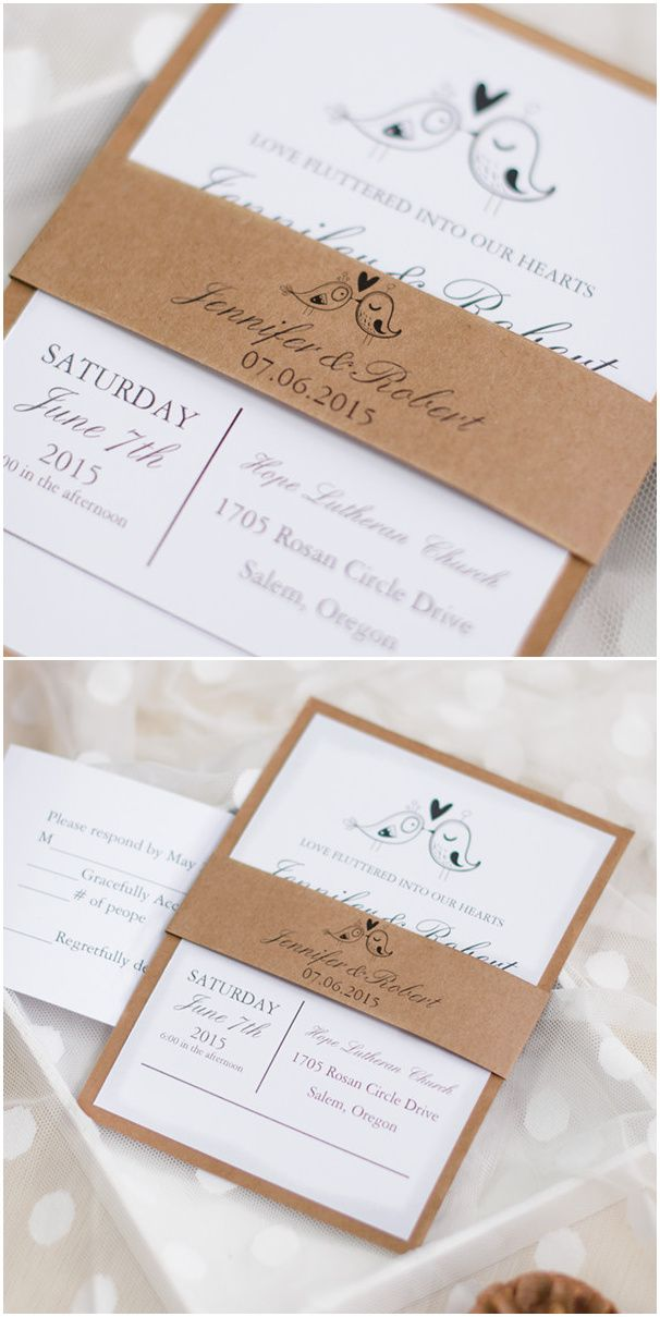 166 best Rustic Wedding Invitations images on Pinterest | Wedding ...