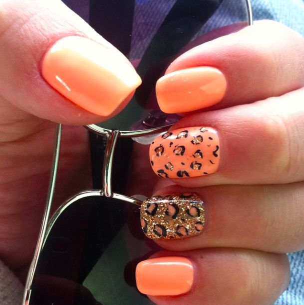 The 25 best no chip manicure ideas on pinterest no chip nails peach no chip with leopard accents peachno chip nailsdesign prinsesfo Gallery