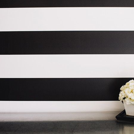 stripes removable wallpaper in black stripes paint and