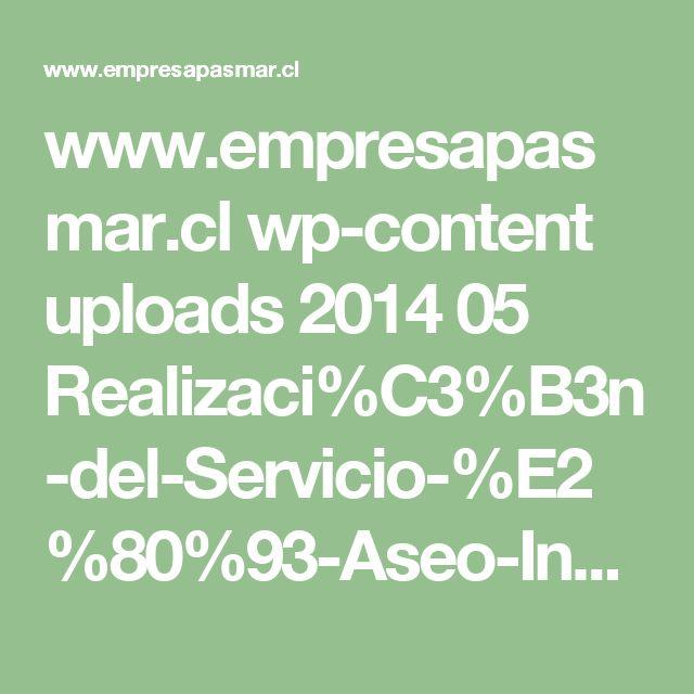 www.empresapasmar.cl wp-content uploads 2014 05 Realizaci%C3%B3n-del-Servicio-%E2%80%93-Aseo-Industrial.pdf