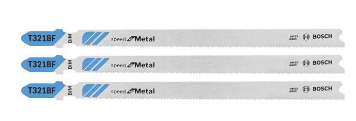 Bosch T321BF3 T-Shank Jig Saw Blade, Bi-Metal, 12 TPI, 3 Piece