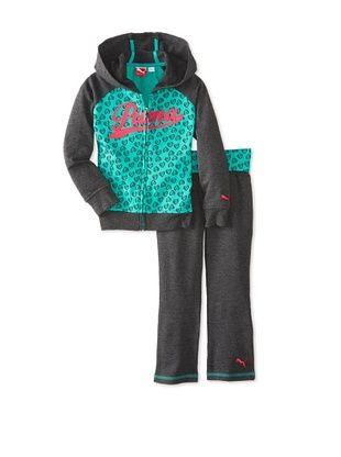69% OFF Puma Girl's Hearts Hoodie Set (Charcoal)