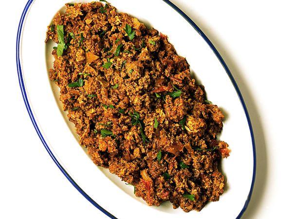 Köttfärsröra med chili och ingefära