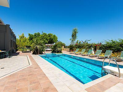 Rethymno villa rental - Aspect of the pool.