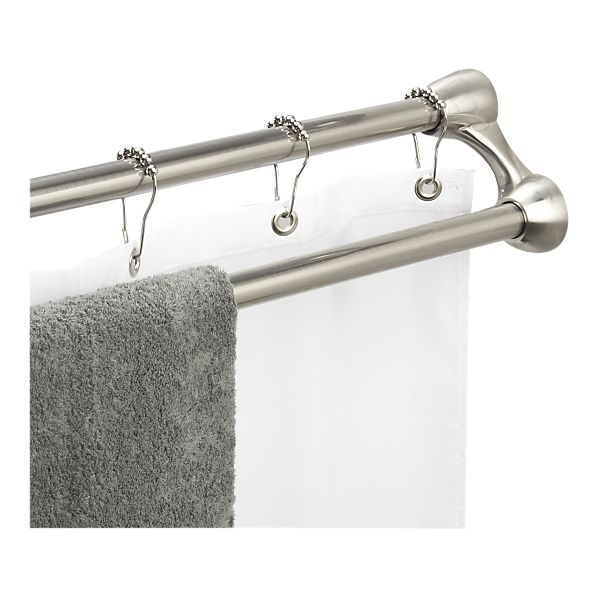 duo shower curtain rod and towel rack from crate and barrel - Shower Rods
