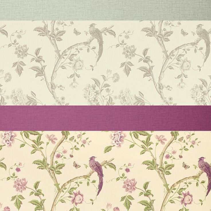 Love the floral and birds....mix and match colours. Go subtle or raspberry brave!