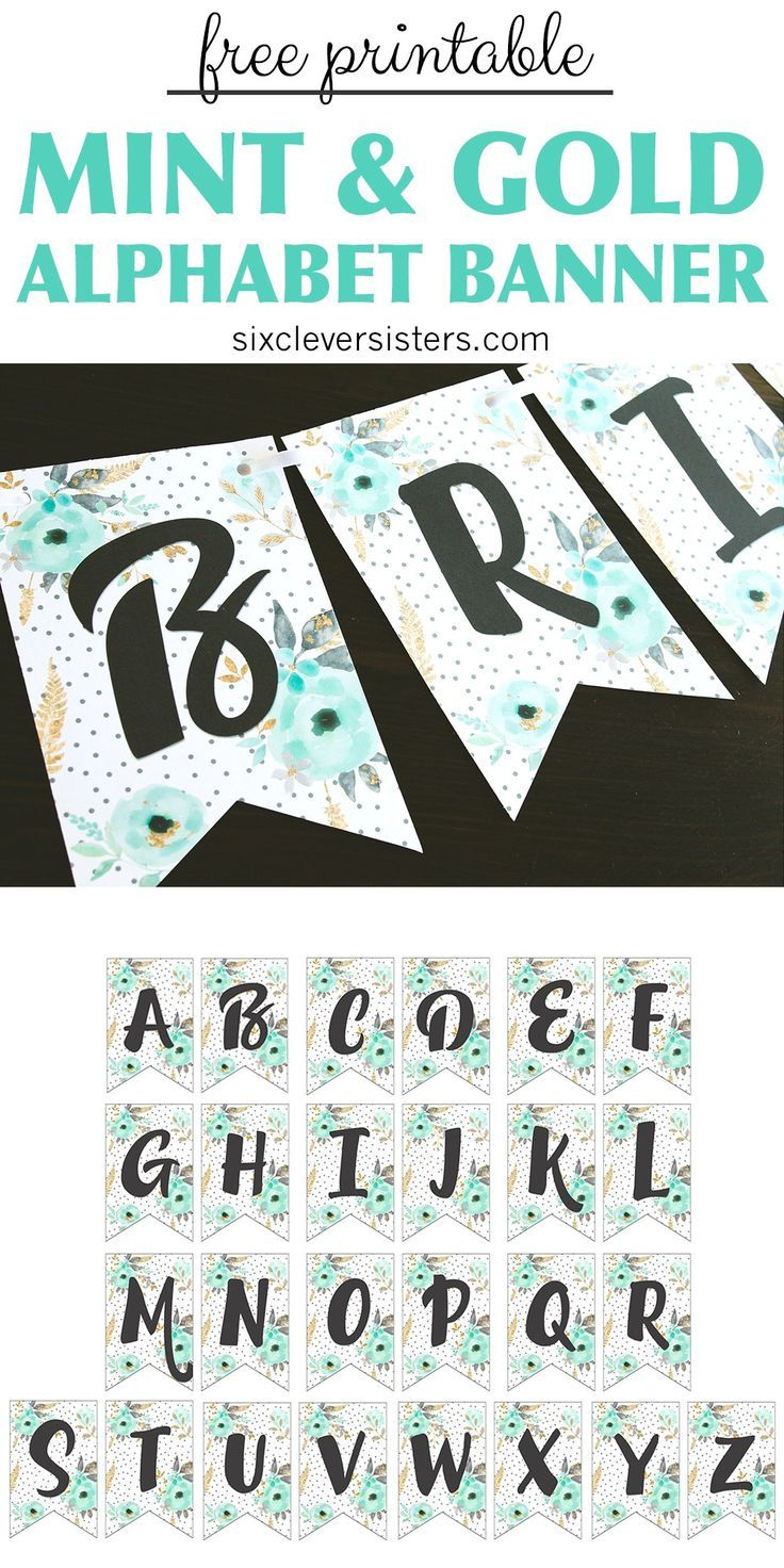 Free Printable Birthday Banner { NAVY & CORAL } This printable birthday banner f…