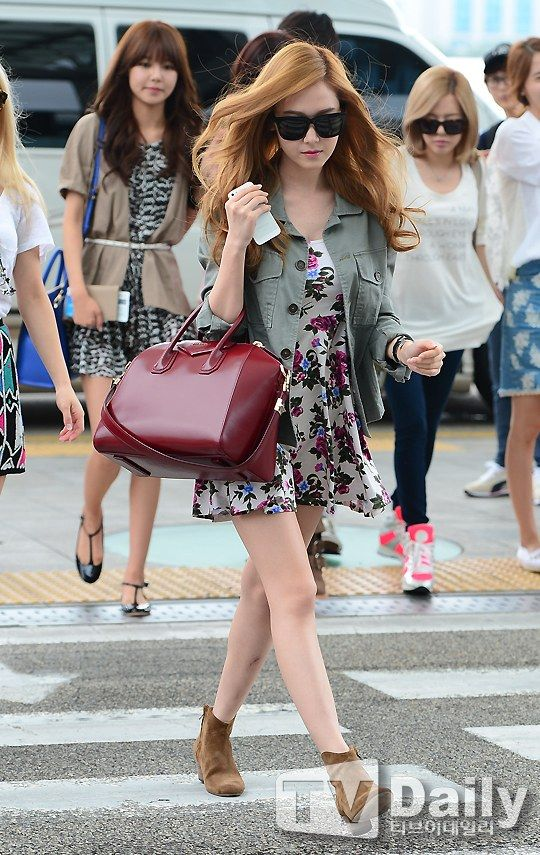 Snsd Jessica Airport Fashion July 19 540 855 Ootd Pinterest Beautiful