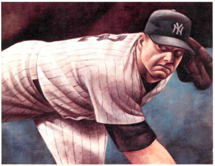 Roger Clemens, NY Yankees by Mike Benny, 2003