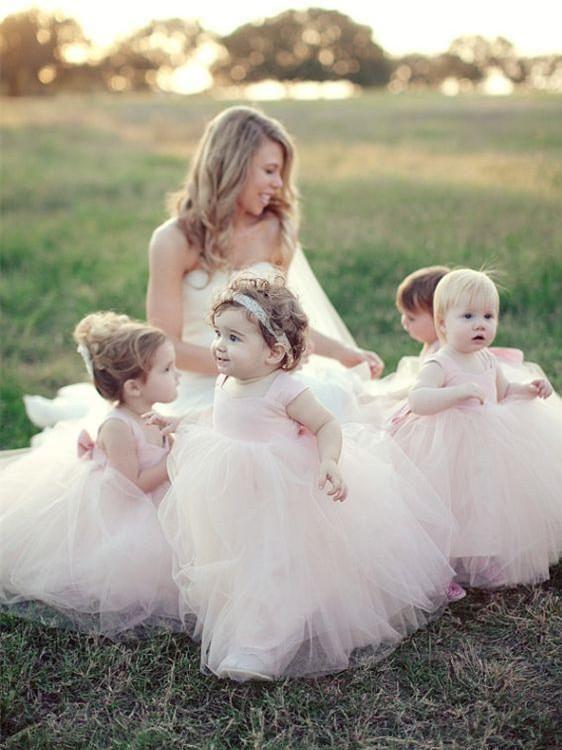 9944ab8848a Chic Tulle Square Neckline Floor-length Ball Gown Flower Girl Dresses FD033