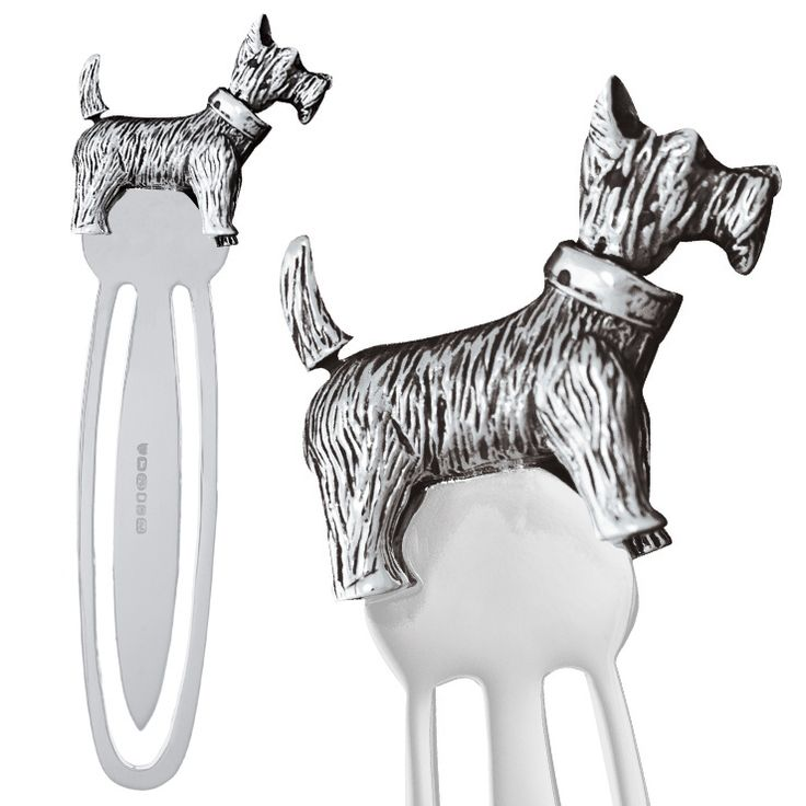 Bookmark - SCOTTIE DOG - Sterling Silver
