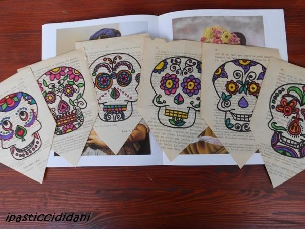 I PASTICCI DI DANI: Halloween - bandierine e teschi messicani