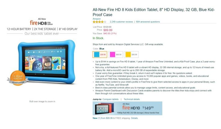 Deal: Amazon discounts Fire Kids tablets  save 30% today only