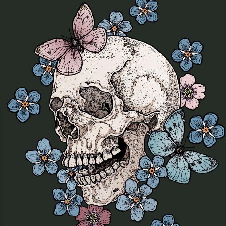 маленькие картинки с черепами которые никогда убивают