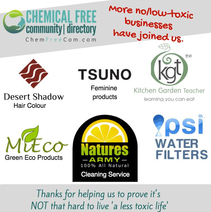 WELCOME to our new members - find chemical free products/services on http://amp.gs/ZxT3.   There is no excuse to be using toxic products anymore.