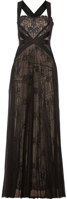 Black Lace Evening Dress by Notte by Marchesa. Buy for $906 from NET-A-PORTER.COM