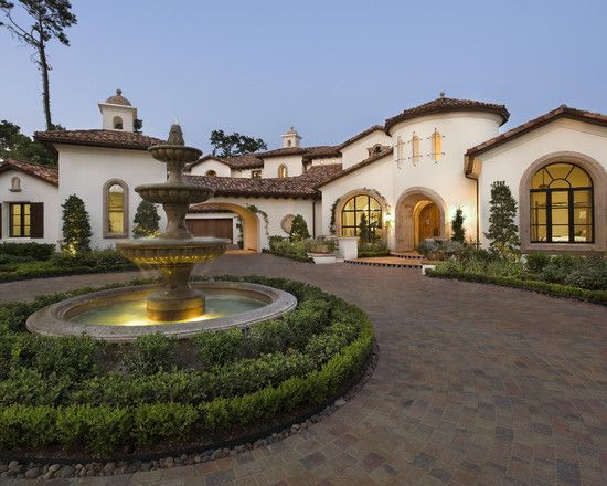 Exterior DREAM SPANISH STYLE HOME Design, Pictures, Remodel, Decor and Ideas                                                                                                                                                                                 Más
