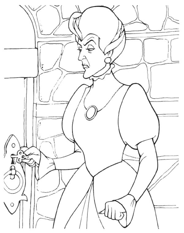 Disney villains coloring page wicked stepmother for Evil stepmother coloring pages