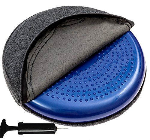 Inflated Stability Wobble Cushion, With removable washable overlay, Including Free Pump / Exercise Fitness Core Balance Disc #Inflated #Stability #Wobble #Cushion, #With #removable #washable #overlay, #Including #Free #Pump #Exercise #Fitness #Core #Balance #Disc