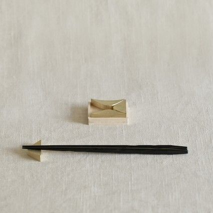 oji masanori with futagami foundry   wink brass chopstick rests