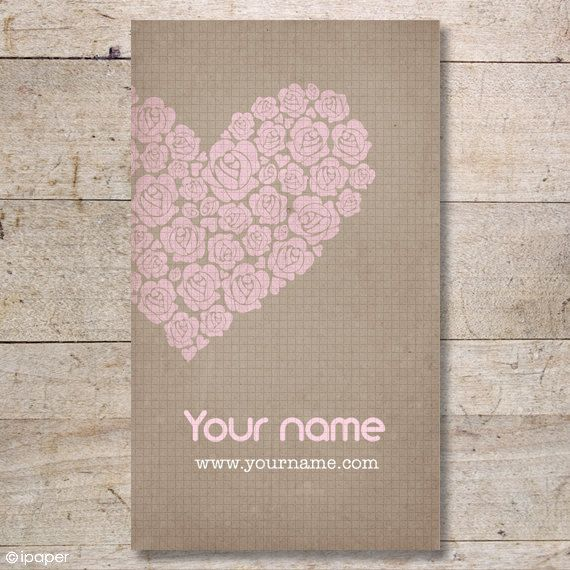 100 Custom High Quality Business Cards - Display Cards - Earring Cards - Rose Heart - No. 20. $29,00, via Etsy.