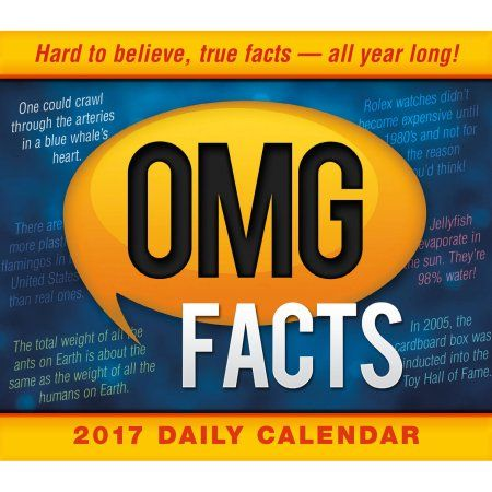 Sellers Publishing, OMG Facts Boxed Daily Calendar, 6 inch x 5 inch, Multicolor