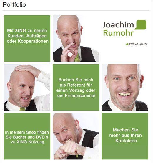 Xing Profil Beispiele Xingexperte Xing Profil Portfolio Best Practice Joachim Rumohr Xing Profil Best Practice Bucher