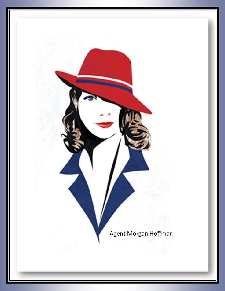 Morgan Hoffman in an Agent Peggy Carter persona. Morgan tweeted that it was awesome!