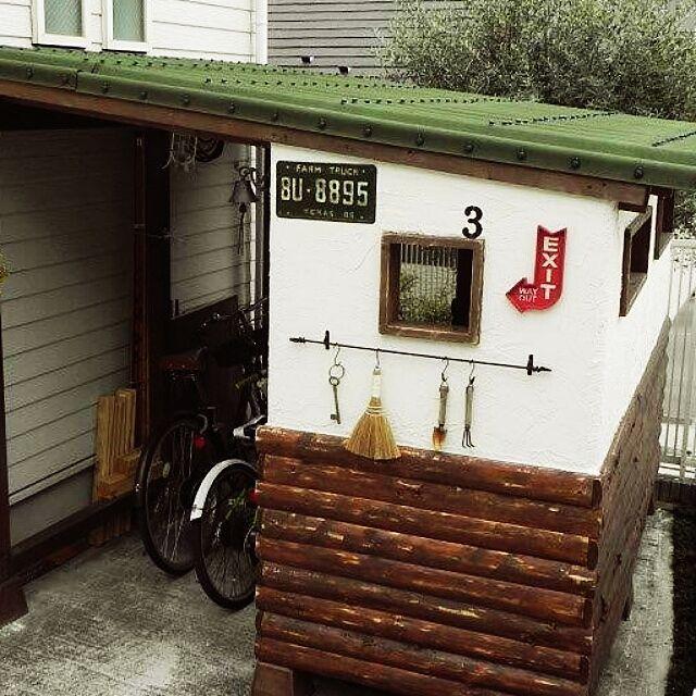 男性で、4LDKの自転車置き場/自転車/自転車小屋/小屋DIY /小屋/salut!…などについてのインテリア実例を紹介。「自転車小屋❕大物DIYです。 構想半年。製作は、暇がなく2年…。 でも、できない時間に考えているのが楽しかった。」(この写真は 2016-04-17 07:06:07 に共有されました)